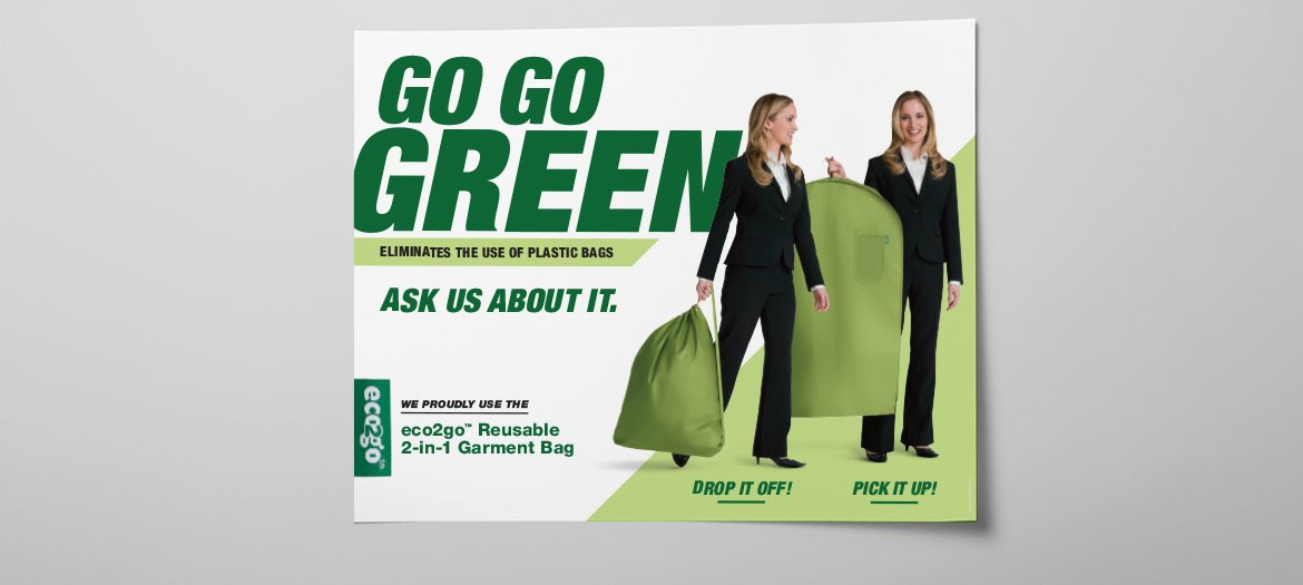 eco2go Go Go Green Reusable 2-in-1 Garment Bag Poster
