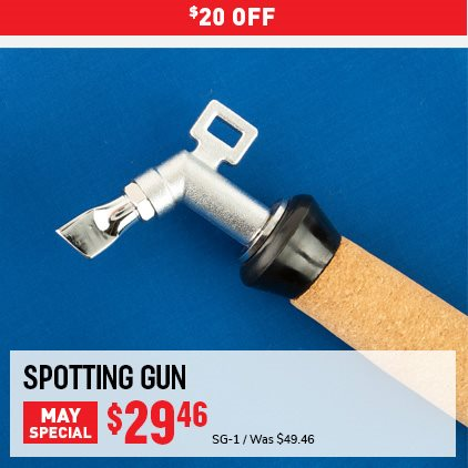 $20 OFF Spotting Gun May Special. SG-1 Was $49.46, Now $29.46. Expires 5/31/21.