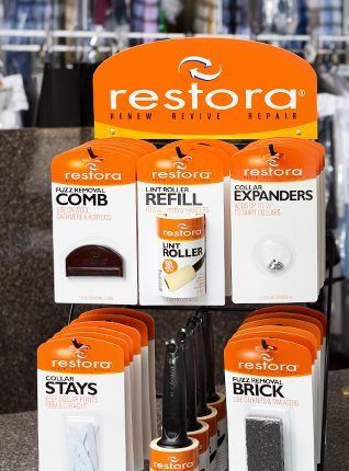 Cleaner's Supply restora Counter Products Display Rack