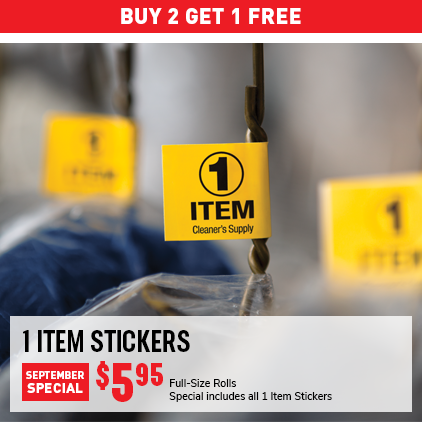 Cleaner's Supply 1 Item Stickers Monthly Special Sale