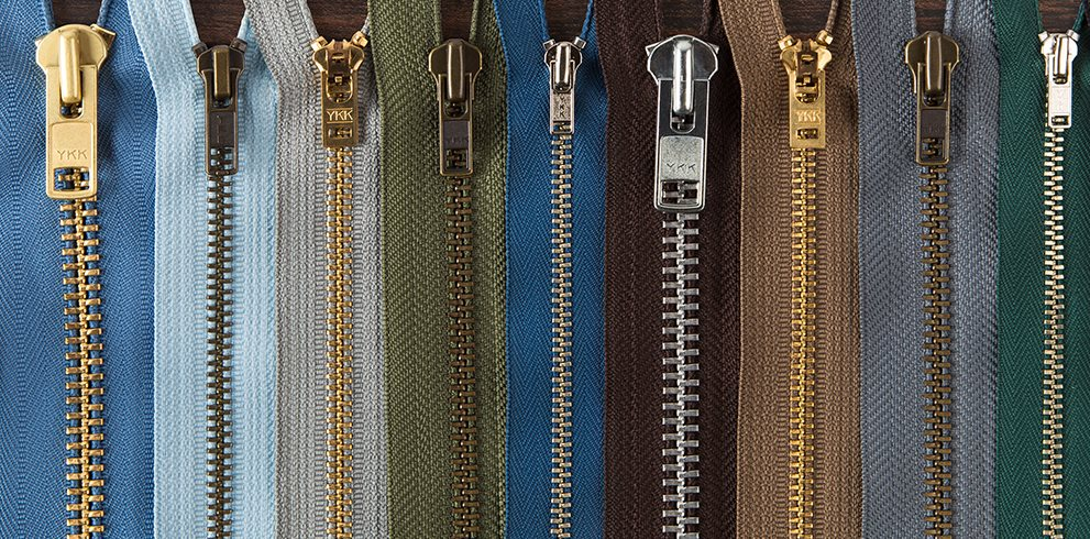 Assorted Zippers in Various Sizes and Colors